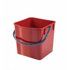 Вик: Ведро 25л пластик красный