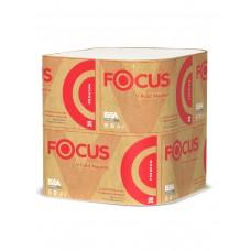 Хаят: Салфетки бумажные V 2сл 200л 23х16,8см ФОКУС Премиум белые для диспенсера