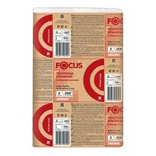 Хаят: Полотенца бумажные Z 2сл 200л 21,5х24см ФОКУС Экстра растворимые белые
