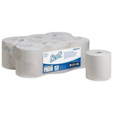 Kimberly-Clark: Полотенца бумажные Скотт Контрол EXTRA STRONG 1сл 300м/19,8 белые