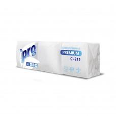 Бумажные салфетки: столовые 1сл 500листов 24х24 PRO белые