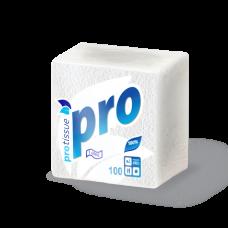 Бумажные салфетки: столовые 1сл 100листов 22х22 PRO белые