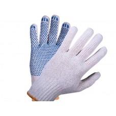 Перчатки: х/б вязаные с ПВХ 4-х ниточные 7,5класс белые Мастер