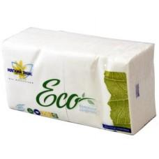 Бумажные салфетки: столовые ЕСО однослойные 250 листов 24х24 см белые