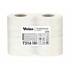 VEIRO: Бумага туалетная 2сл 20м/9,5 Premium белый /пач.=4 шт.