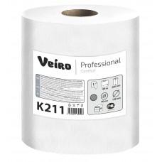 VEIRO: Полотенца бумажные 1сл 120м/20 Comfort белый