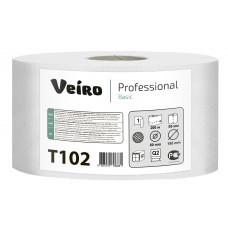 VEIRO: Бумага туалетная 1сл 200м/9,5 Basic натуральный