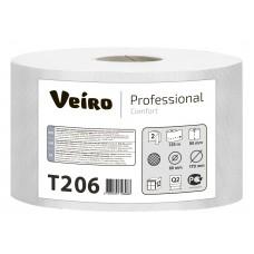 VEIRO: Бумага туалетная 2сл 125м/9,5 Comfort белый