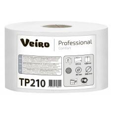 VEIRO: Бумага туалетная 2сл 215м/13,0 Comfort внутренняя вытяжка белая