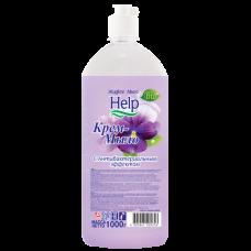 Мыло жидкое: ХЭЛП 1л крем-мыло с антибактериальным эффектом