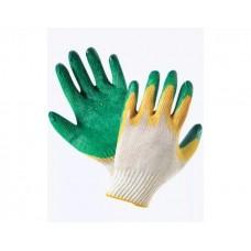 Перчатки: х/б вязаные с двойным латексным покрытием