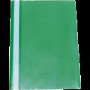 Канцелярские товары: Скоросшиватель пластиковый INDEX прозрачный верх зеленый низ