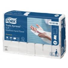 Tork: Полотенца бумажные H2 Premium Multifold 110 листов 2-слойные 21х34 см белые мягкие