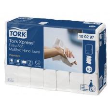 Tork: Полотенца бумажные H2 Premium Multifold 100л 2сл 21х34см белые ультрамягкие