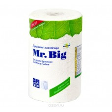 Бумажные полотенца: Мягкий знак Mr.Big 2сл белые