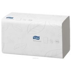 Tork: Полотенца бумажные H3 Advanced Singlefold 250л 2сл 23х25см белые