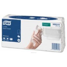 Tork: Полотенца бумажные H3 Advanced Singlefold 120л 2сл 24х27,5см белые C-сложения