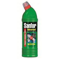 Чистящее средство: САНФОР УНИВЕРСАЛ гель 750г Лимон с хлором для туалета, ванной, кухни