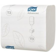 Tork: Бумага туалетная T3 Advanced 242 листа листовая двухслойная
