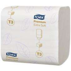 Tork: Бумага туалетная T3 Premium 252 листа листовая двухслойная