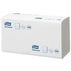Tork: Полотенца бумажные H3 Universal Singlefold 250 листов 1-слойные 23х23 см белые