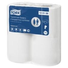 Tork: Бумага туалетная T4 Advanced двухслойная в стандартных рулонах