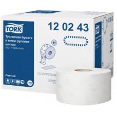 Tork: Бумага туалетная T2 Premium 170 метров двухслойная в мини-рулонах мягкая