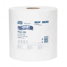 Tork: Салфетка W1, W2 Advanced 225м/23,5 2сл 750л бумажная протирочная белая