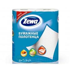 Бумажные полотенца: ЗЕВА 2сл белые