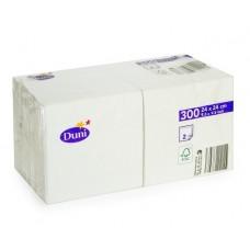 DUNI: Салфетки столовые 2сл 300листов 24х24 белые