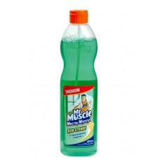 Чистящее средство: МИСТЕР МУСКУЛ 500мл для стекол МИРЕ ЗЕЛЁНЫЙ с нашатырным спиртом