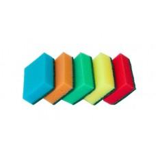 Губки,скрабы: для посуды VCLEAN Макси СУПЕР 9.5х6.5х3 поролон+абразив