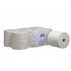 Kimberly-Clark: Полотенца бумажные Скотт 354 метра 1-слойные белые