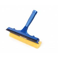 Хозяйственный инвентарь: Склиз для окон 205мм пластиковый с резинкой и губкой, короткая ручка