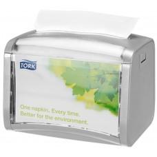 Tork: Диспенсер N4 Interfold для салфеток серый настольный на 200 шт