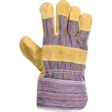 Перчатки: спилковые комбинированные утепленные