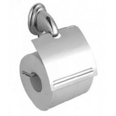 Хозяйственный инвентарь: Держатель для туалетной бумаги с крышкой металл
