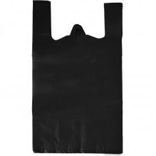 Одноразовая продукция: Пакет-майка полиэтиленовый 55х28х14см черный