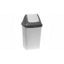 Хозяйственный инвентарь: Контейнер 50л для мусора пластиковый СВИНГ с качающейся крышкой