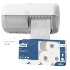 Tork: Бумага туалетная T4 Premium 3сл белая