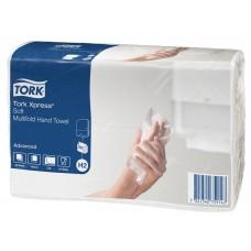 Tork: Полотенца бумажные H2 Advanced Multifold 190 листов 21х23,4 см 2-слойные белый