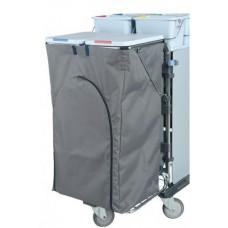 Vileda: Чехол 120л для мусорных мешков с молнией серый