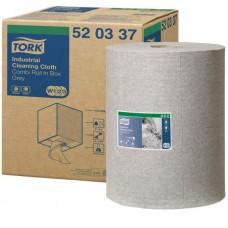 Tork: Салфетка W1, W2, W3 Premium 148м/32 1сл 390л нетканый материал для удаления масла и жира серая