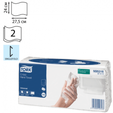 Tork: Полотенца бумажные H3 Universal Singlefold 120л 2сл 24х27,5см натуральный