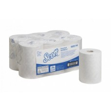 Kimberly-Clark: Полотенца бумажные Скотт Слимролл 190м/19,8 1сл белые