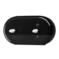 Tork: Диспенсер T9 SmartOne® двойной для туалетной бумаги в мини рулонах черный