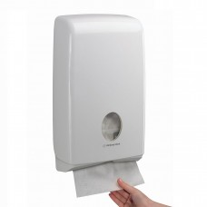 Kimberly-Clark: Диспенсер Аквариус для полотенец в пачках белый Слимфолд