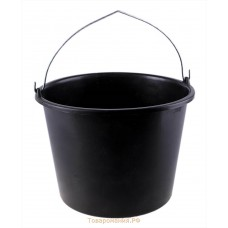 Хозяйственный инвентарь: Ведро 20л пластиковое с металлической ручкой черное