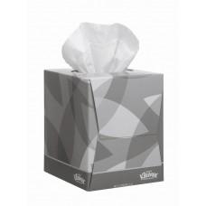 Kimberly-Clark: Салфетки Клинекс 90л двухслойные для лица в кубе белые