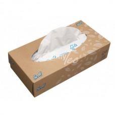 Kimberly-Clark: Салфетки Скотт 100л двухслойные для лица белые